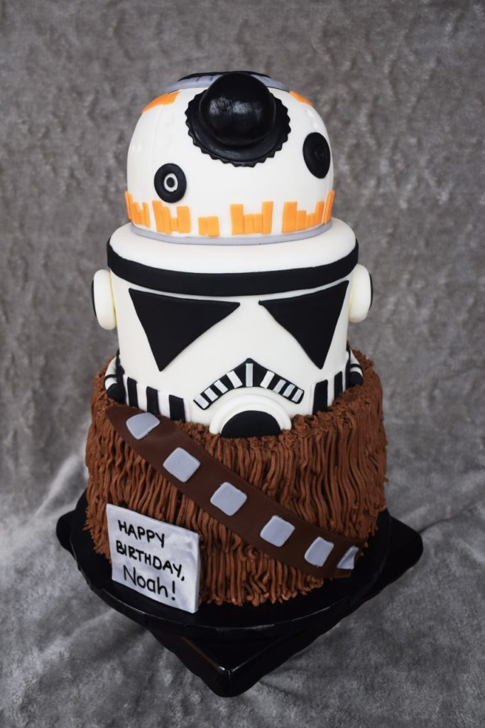 starwars-bb8-wookie-stormtrooper-cake